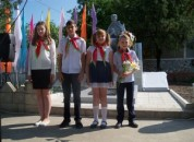 В селе Красногорка состоялось открытие памятного знака по увековечению памяти умерших защитников Приднестровья